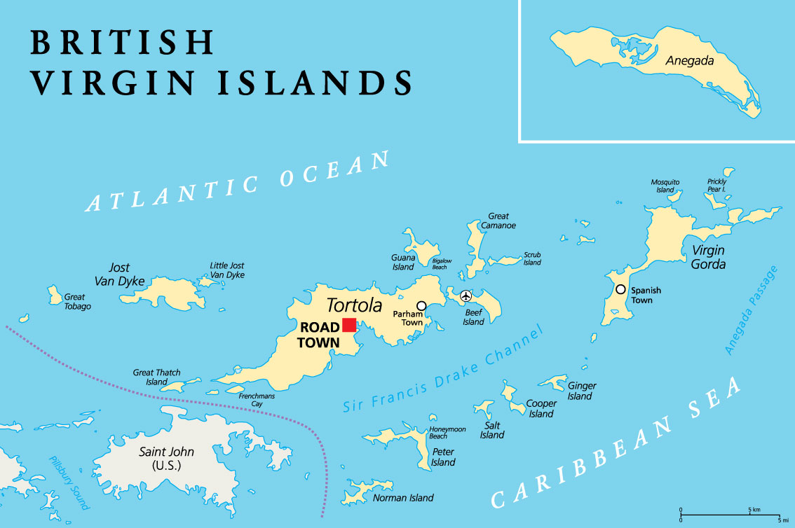 Sailing British Virgin Islands Map